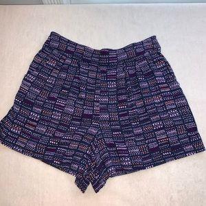 Purple flowy shorts